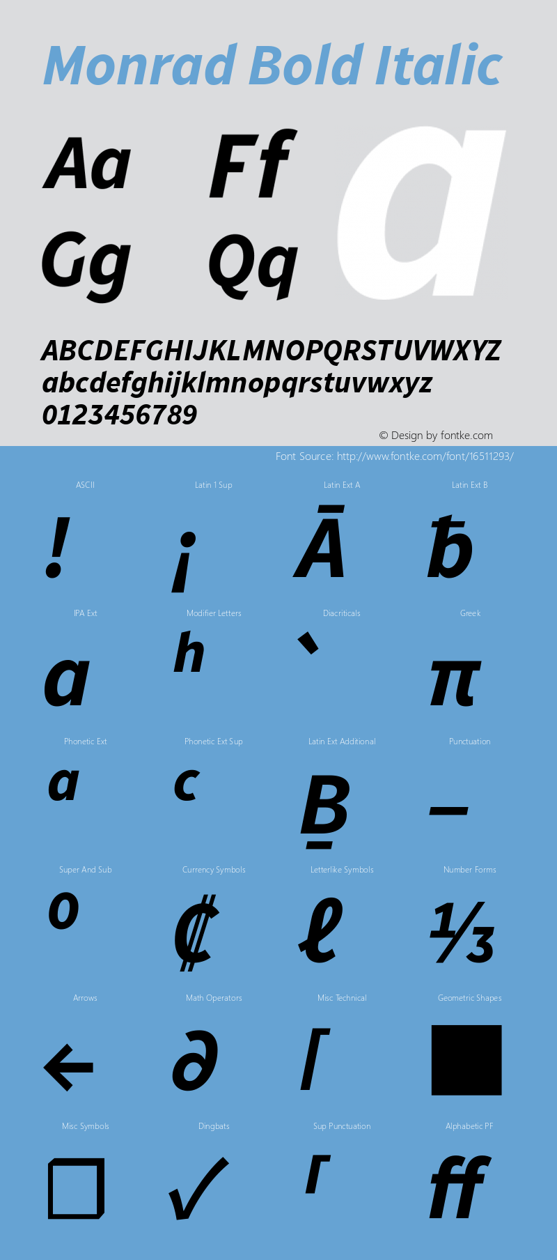 Monrad Bold Italic Version 1.065;PS Version 2.0;hotconv 1.0.78;makeotf.lib2.5.61930图片样张